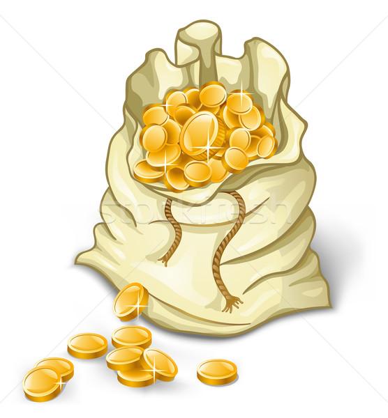 Pénz táska fehér üzlet pénzügy bank Stock fotó © jossdiim
