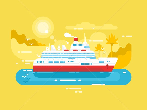 Cruise ship design flat Stock photo © jossdiim