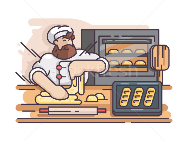 Baker cuisson Cook cuisine alimentaire Photo stock © jossdiim