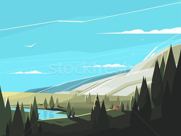 Forest natural landscape Stock photo © jossdiim