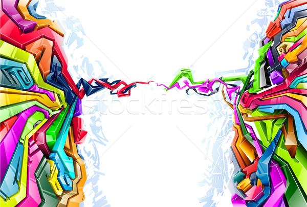 Graffitis style résumé design fond art Photo stock © jossdiim