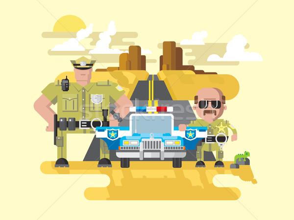 Texas rendőrség stílus zsaru tiszt törvény Stock fotó © jossdiim