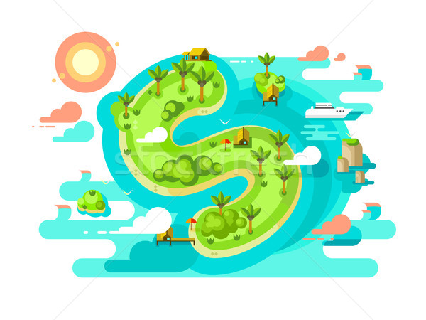 Island paradise nature offshore design Stock photo © jossdiim
