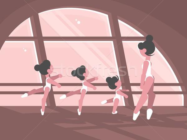 Studio balletto scuola gruppo imparare Foto d'archivio © jossdiim