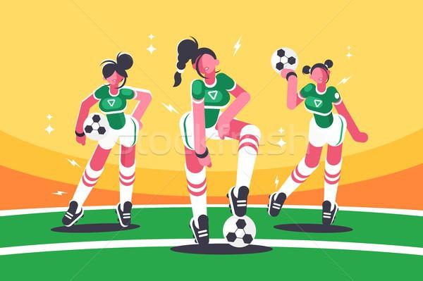 Football woman team Stock photo © jossdiim