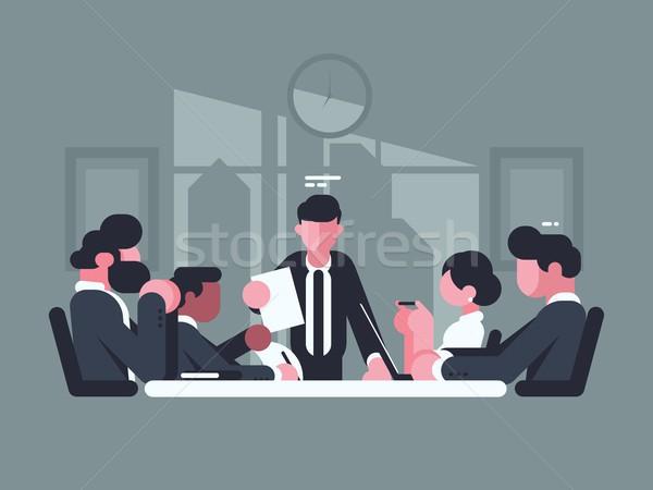 Iş toplantısı ofis toplantı hissedarlar şirket iş Stok fotoğraf © jossdiim