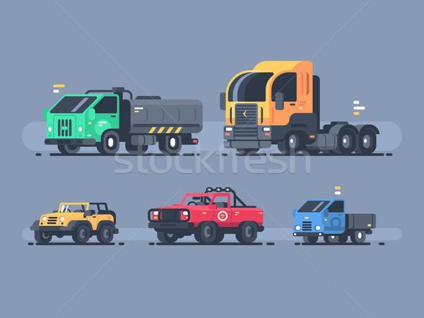 Conjunto carros suv carga carro esportes Foto stock © jossdiim