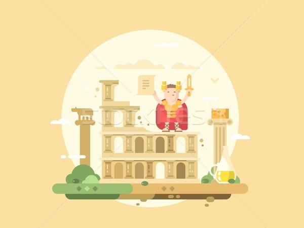 Rome city flat Stock photo © jossdiim