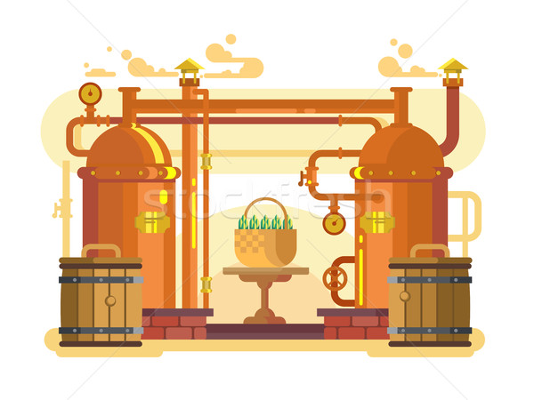 Brewery beer design flat Stock photo © jossdiim