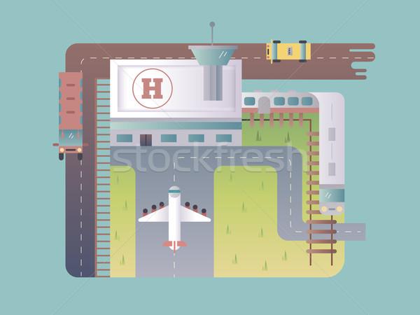 Airport top view Stock photo © jossdiim