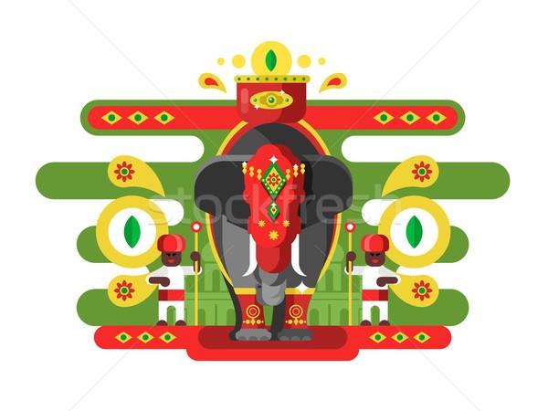 Foto stock: Decorado · indiano · elefante · animal · cultura · asiático
