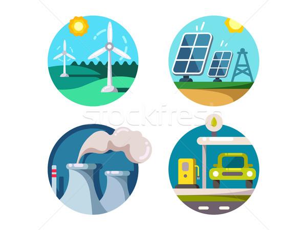 Energy saving technologies Stock photo © jossdiim