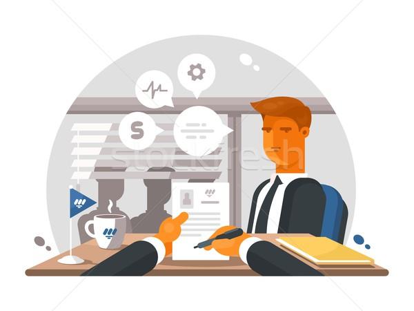 Recrutamento processo escritório assistindo negócio Foto stock © jossdiim