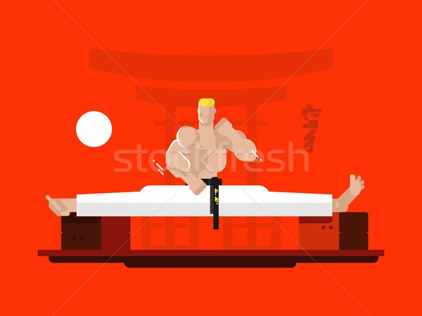 Karate character in the splits Stock photo © jossdiim