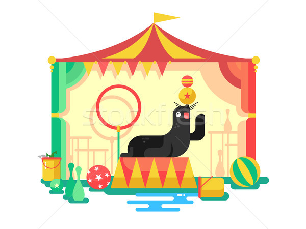 Fur seal in a circus Stock photo © jossdiim