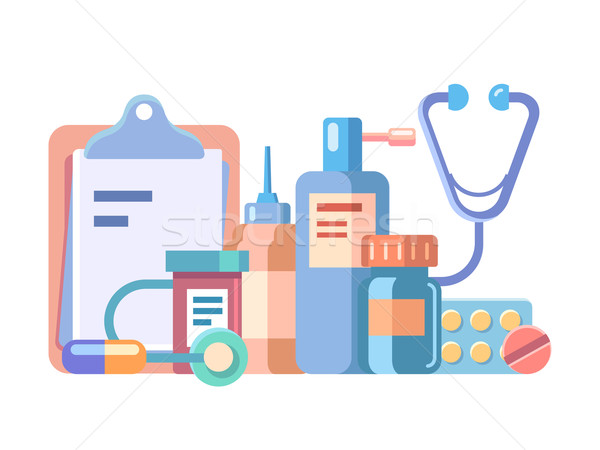 Medication and medical accessories Stock photo © jossdiim
