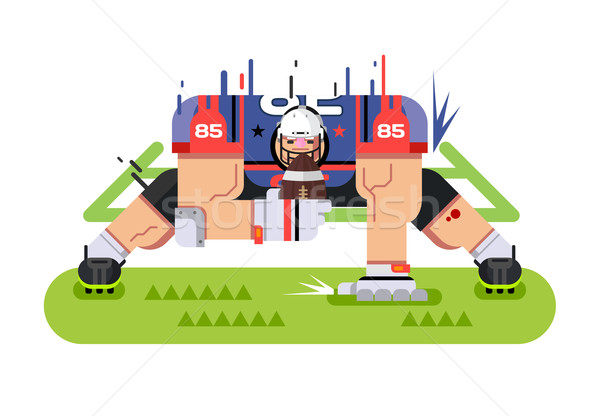 American football player Stock photo © jossdiim