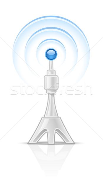 Radio torre blanco tecnología negro los medios de comunicación Foto stock © jossdiim