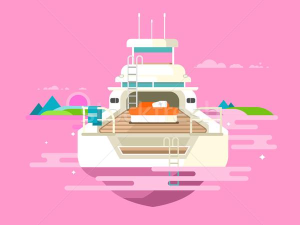 яхта дизайна судно путешествия лодка транспорт Сток-фото © jossdiim