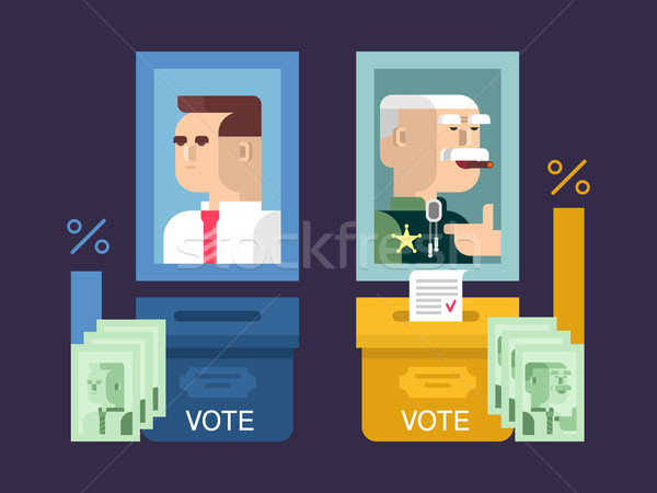 Concept elections design flat Stock photo © jossdiim