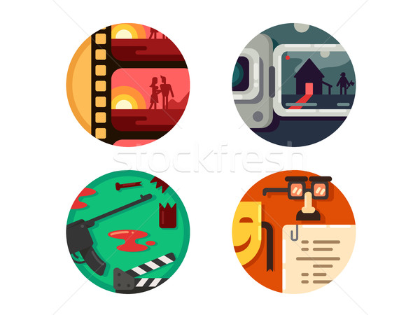 Genre cinema set icons Stock photo © jossdiim