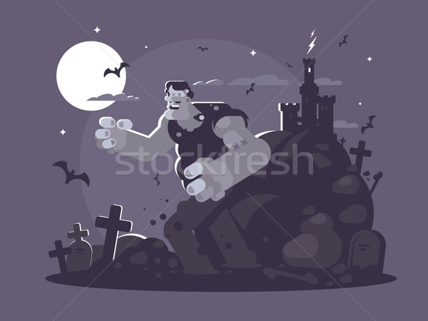 Frankenstein cartoon character Stock photo © jossdiim