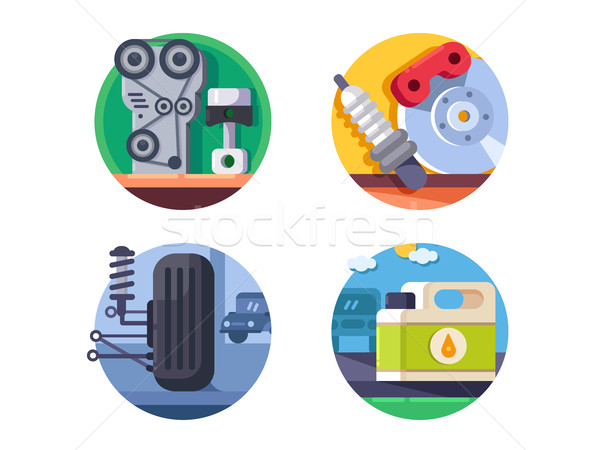 Spare parts set icons Stock photo © jossdiim