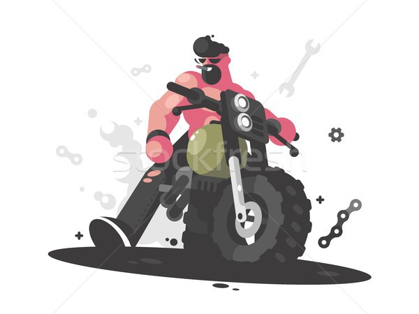Foto stock: Motocicleta · brutal · cara · moto · bicicleta