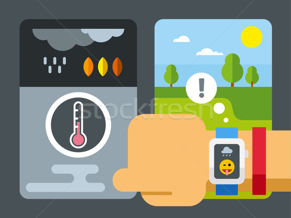 Weather Application on Smart Watch Stock photo © jossdiim