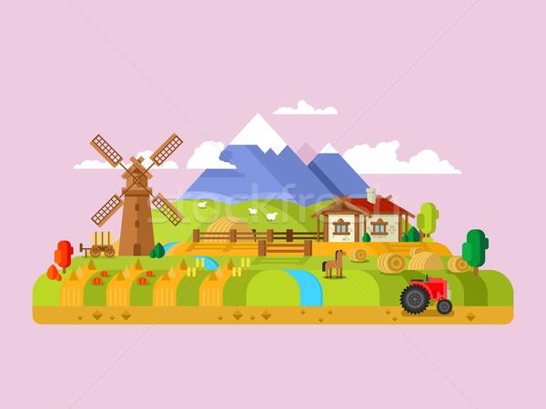 村 商业照片和矢量图