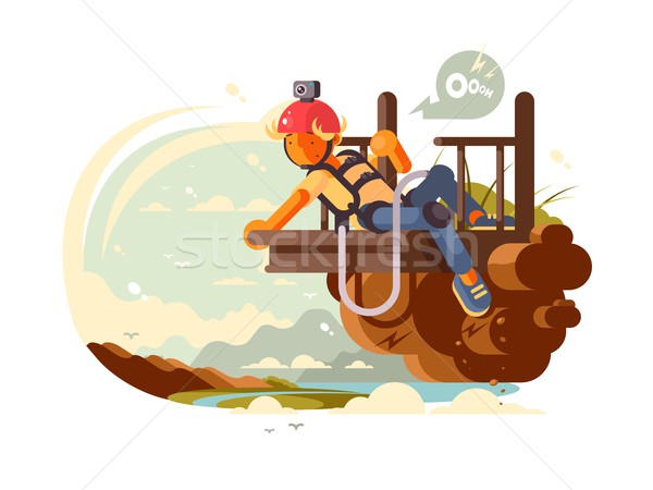 Man bungee jumping Stock photo © jossdiim