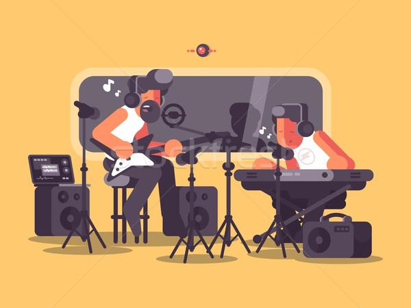 Stok fotoğraf: Ses · ses · ekipmanları · müzik · grup · kayıtlar