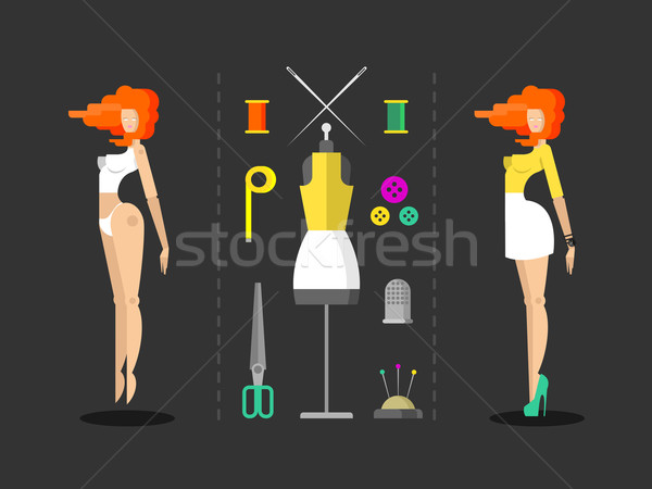 Fashion and sewing hand work Stock photo © jossdiim