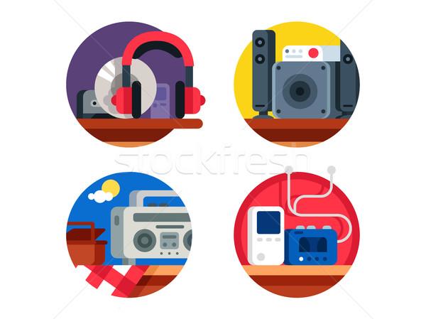 Audio appareil casque joueur Photo stock © jossdiim