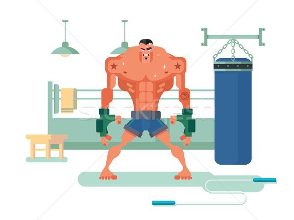 Boxer character in training Stock photo © jossdiim