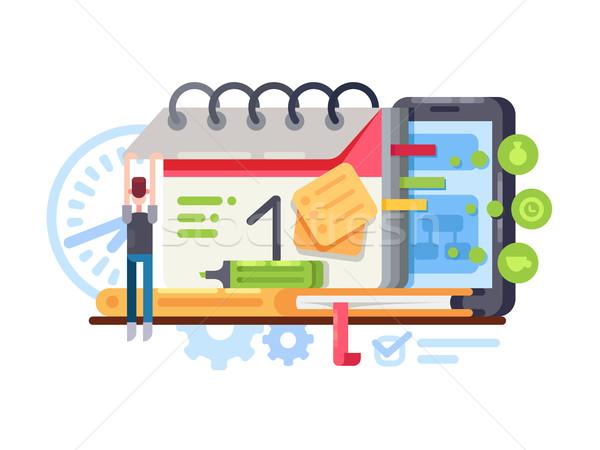 Planning and organization Stock photo © jossdiim