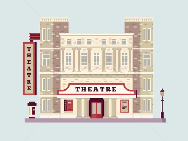 Theater building design flat Stock photo © jossdiim