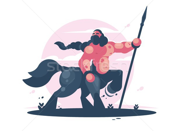 Character centaur with spear Stock photo © jossdiim