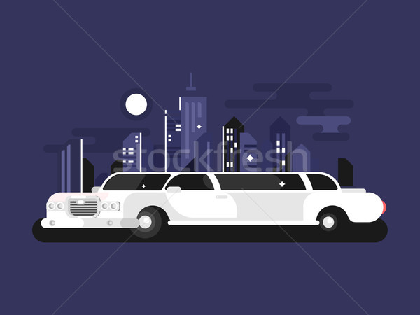 White limousine car Stock photo © jossdiim