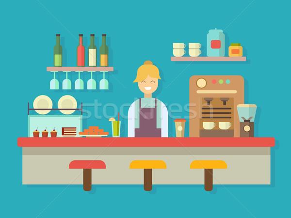 Bar counter Stock photo © jossdiim