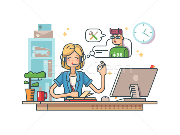 Call customer support Stock photo © jossdiim