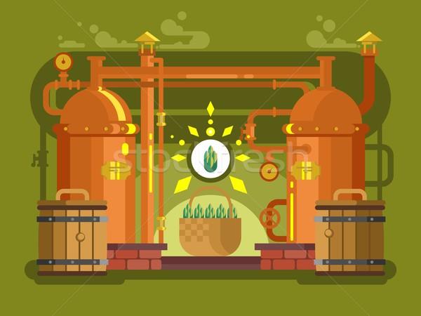 Cervejaria cerveja projeto álcool Foto stock © jossdiim