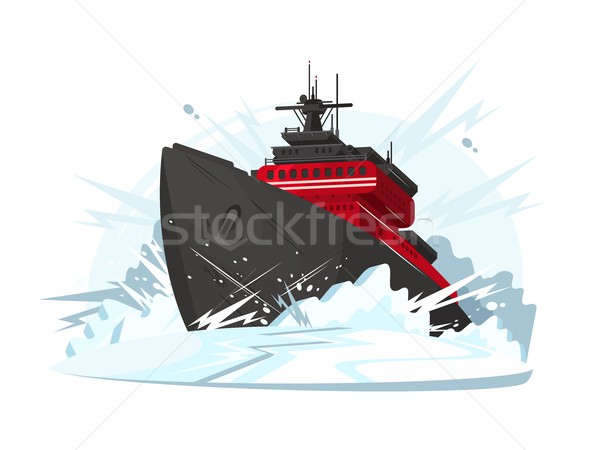 Icebreaker breaks ice Stock photo © jossdiim