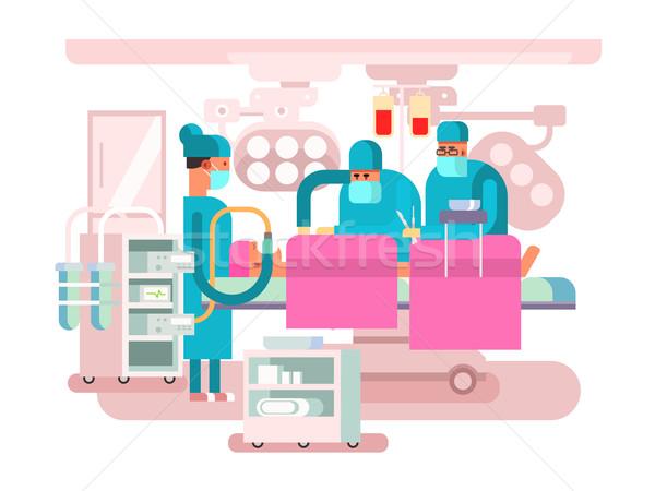 Sala operatoria design operazione chirurgia medici paziente Foto d'archivio © jossdiim