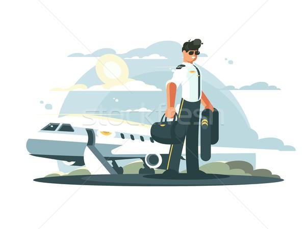 профессия экспериментального самолета человека равномерный Постоянный Сток-фото © jossdiim