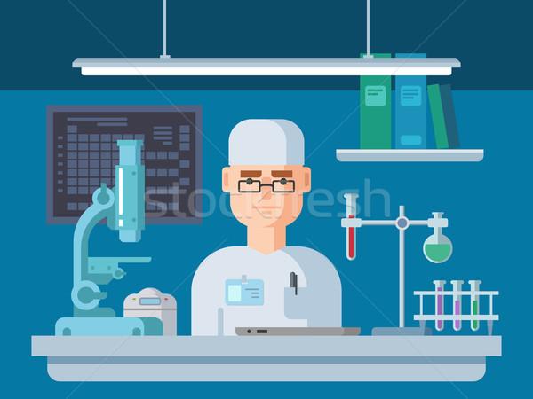 Foto stock: Médico · laboratorio · salud · médicos · investigación · diseno