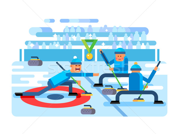 Stock photo: Curling winter game