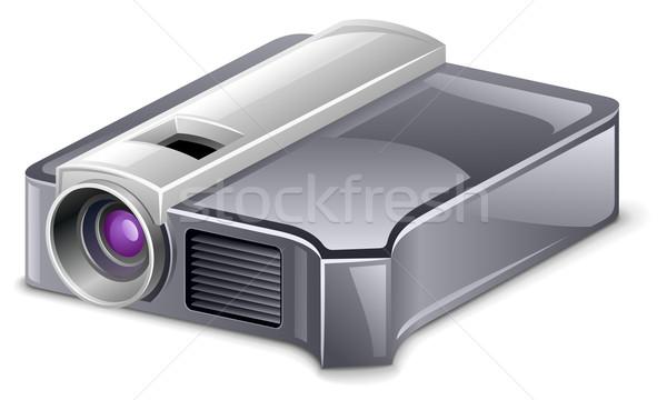 Video projector witte technologie metaal Blauw Stockfoto © jossdiim