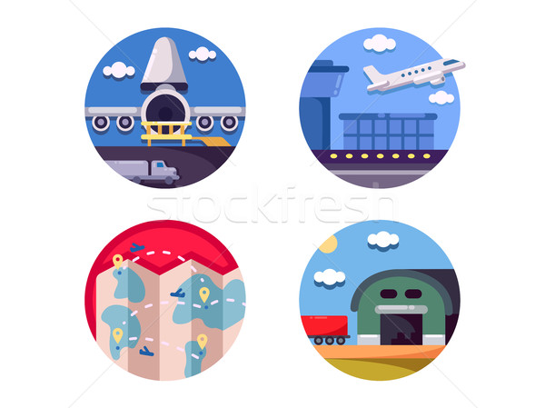 Air logistics and freight transport Stock photo © jossdiim