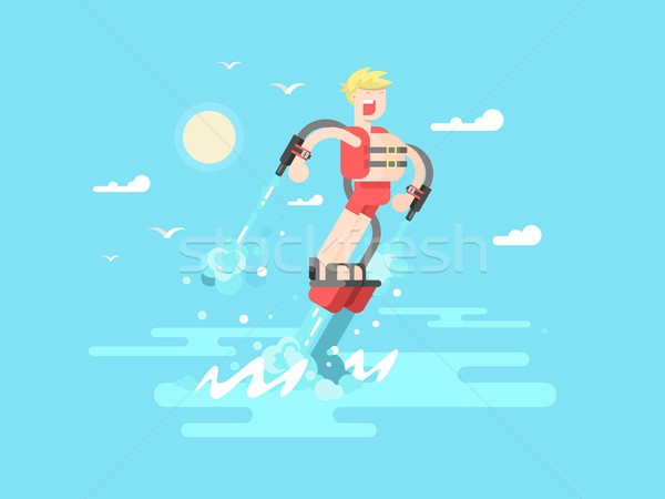 Man with flyboard Stock photo © jossdiim